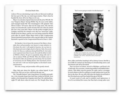 Sample pages from Cleveland Radio Tales, a book by Mike and Janice Olszewski