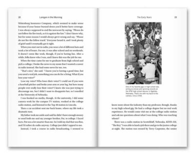 Sample pages from Lanigan in the Morning, by John Lanigan