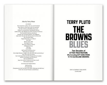 Sample page spread from the book The Browns Blues, by Terry Pluto