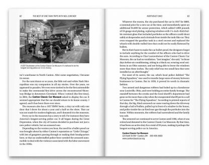 "Image of interior two-page spread from the book ""The Best of One Tank Trips with Neil Zurcher"""