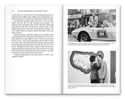 "Pages 118–119 from the book ""Punched, Kicked, Spat On, and Sometimes Thanked: Memoirs of a Cleveland TV News Reporter,"" by Paul Orlousky"